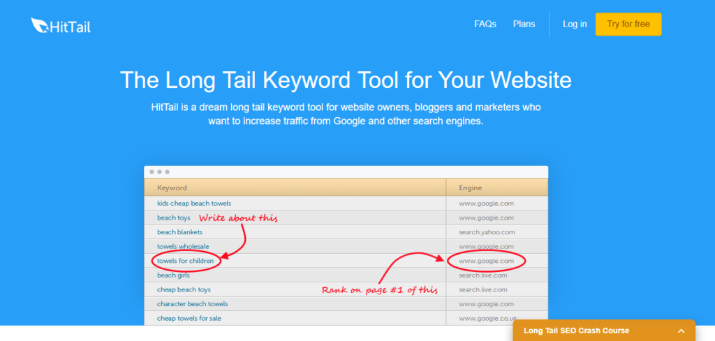 Best Seo Tools to Search for Keywords [Hit Tail]