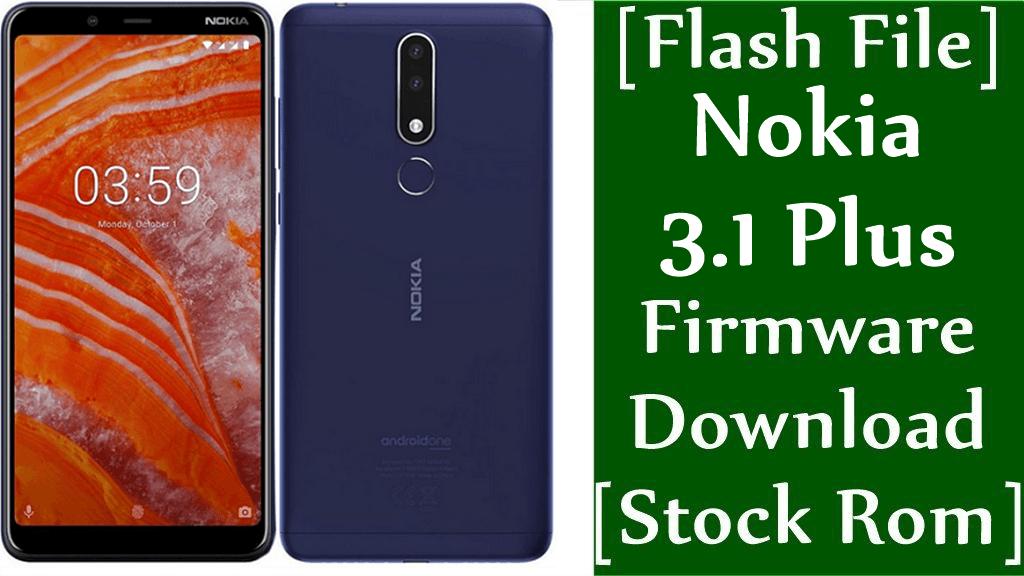 Nokia 3.1 Plus firmware