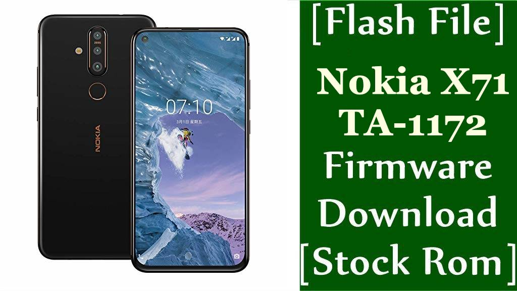Nokia X71 TA 1172 Firmware Flash File Download Stock Rom