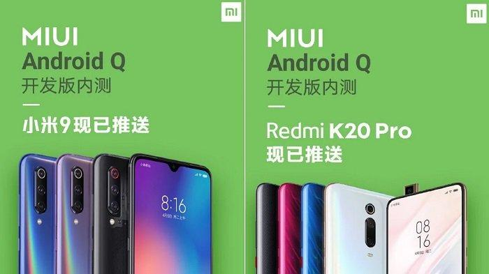 Test the Android Q MIUI based on Xiaomi Mi 9 and Redmi K20 Pro India