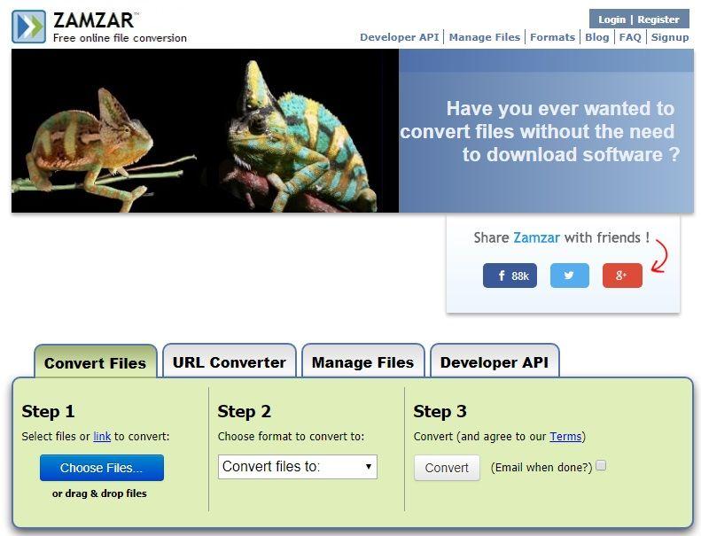 WAV to MP3 converter - ZAMZAR