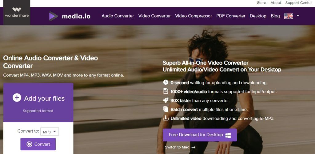 WAV to MP3 converter - MEDIA.IO